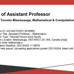 Position of Assistant Professor